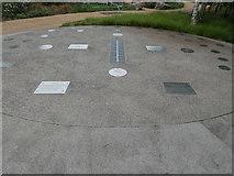 TQ3784 : Sundial - Olympic Park, Stratford by Christine Matthews