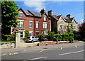SO8305 : Brick semis and stone semis, Cainscross Road, Stroud by Jaggery