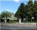 SO8305 : Tree-lined southern perimeter of Marling School, Stroud by Jaggery