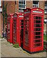 TL8507 : K6-type telephone boxes, Maldon by Julian Osley