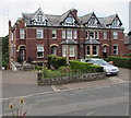 SO5013 : Row of four houses, Hereford Road, Monmouth by Jaggery