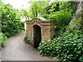 SJ6513 : Entrance to the icehouse at Apley Castle by Richard Law