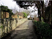 SS8178 : East along Old Village Lane, Nottage, Porthcawl by Jaggery