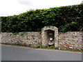 SY1287 : Grade II listed former drinking fountain, Cotmaton Road, Sidmouth by Jaggery