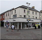 SS9079 : Three mobile phone shop on a Bridgend town centre corner by Jaggery