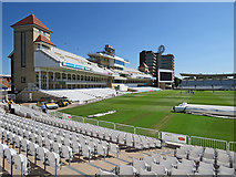 SK5838 : Trent Bridge Cricket Ground: the Radcliffe Road End changing by John Sutton