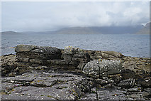 NG5113 : Elgol Sandstone by Anne Burgess