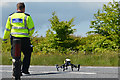 SS8321 : North Devon : The A361 - Drone by Lewis Clarke