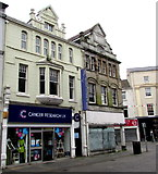 SS9079 : Cancer Research UK shop in Bridgend town centre by Jaggery