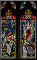 SK8784 : Stained glass window, St Helen's church, Willingham by Stow by Julian P Guffogg