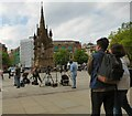 SJ8398 : The next day in Albert Square by Gerald England