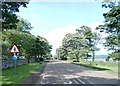 NU1535 : Road near Budle Hall by Anthony Parkes