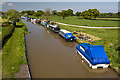 SJ4861 : Moorings on the Shropshire Union Canal from Golden Nook Bridge (1) by Mike Searle