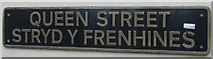 SS9079 : Queen Street/Stryd y Frenhines name sign in Bridgend town centre by Jaggery