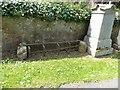 NJ6112 : An old metal 'mort safe' in Tough kirkyard by Stanley Howe