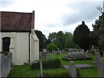 TQ1873 : St Peter, Petersham: churchyard (c) by Basher Eyre