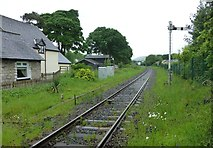 SD5095 : Railway north of the level crossing at Burneside by Russel Wills