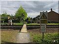 TL3441 : Footpath level crossing, Royston by Hugh Venables