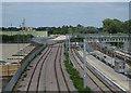 TL4760 : Sidings by Cambridge North by Hugh Venables