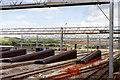 TR1737 : Dollands Moor marshalling yard, 1992 by Ben Brooksbank