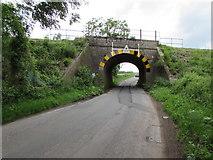 ST9898 : East side of Tarlton Road underbridge near Kemble by Jaggery