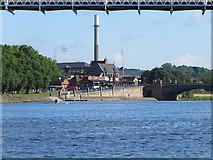 SK5838 : Under the Suspension Bridge by John Sutton