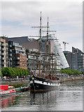 O1634 : Custom House Quay, The Emigrant Ship by David Dixon