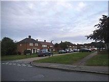 TQ1666 : Bankside Drive at the junction of Sugden Lane by David Howard