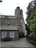 TQ2075 : St Mary the Virgin, Mortlake: tower by Basher Eyre