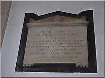 TQ2075 : St Mary the Virgin, Mortlake: memorial (d) by Basher Eyre