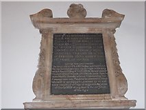 TQ2075 : St Mary the Virgin, Mortlake: memorial (l) by Basher Eyre