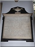 TQ2075 : St Mary the Virgin, Mortlake: memorial (n) by Basher Eyre