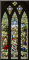 TF1590 : Stained glass window, All Saints' church, Tealby by Julian P Guffogg