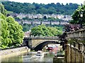 ST7564 : A view along the River Avon from Pulteney Bridge in Bath by Richard Humphrey