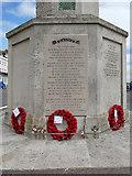 SY6879 : Ranger Memorial, Weymouth Esplanade (base detail) by David Dixon