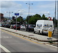 ST3188 : Miller white van on the A4042 Kingsway, Newport by Jaggery