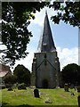 SO7113 : Tower and spire of Westbury-on-Severn by Philip Halling