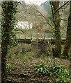 SX0168 : Former railway bridge over River Camel by Derek Harper