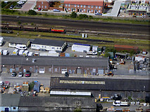 SU4519 : Railway Buildings near Eastleigh Station by David Dixon