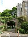 SY2597 : Courtyard of the medieval manor house at Shute Barton, Devon by Derek Voller