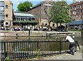 SK5739 : Summer in the City – Nottingham Canal wharf (1) by Alan Murray-Rust