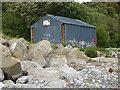 SJ2383 : Corrugated shed by Dee Sailing Club by John M