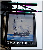 ST1974 : The Packet name sign, Bute Street, Cardiff by Jaggery