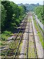 NZ2624 : Tracks near Newton Aycliffe railway station by Thomas Nugent