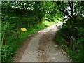 SO2630 : Grit bin on the lane at Nant Vision by Christine Johnstone