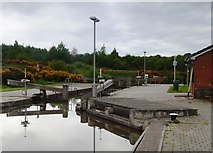 NS8579 : Top lock Union Canal Falkirk by Steve Houldsworth