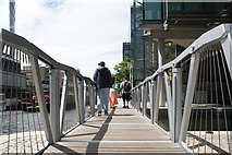 TQ2681 : View along the Rolling Bridge in the Paddington Basin by Robert Lamb