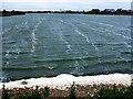 TF6433 : Choppy waters on the lake between Snettisham Beach and Shepherd's Port, Norfolk by Richard Humphrey