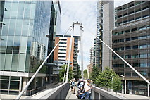 TQ2681 : View along the static footbridge in the Paddington Basin by Robert Lamb