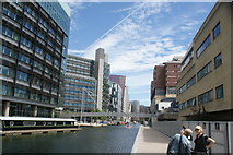 TQ2681 : View back along the Paddington Basin by Robert Lamb